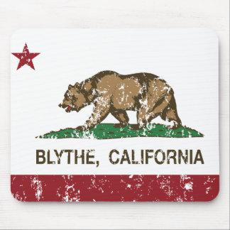 blythe de la bandera de California apenado Alfombrillas De Ratones