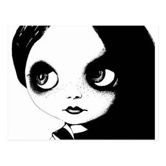 Blythe face postcard