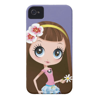 Blythe Holding Flower iPhone 4 Case-Mate Case