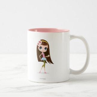 Blythe Holding Flower Two-Tone Coffee Mug
