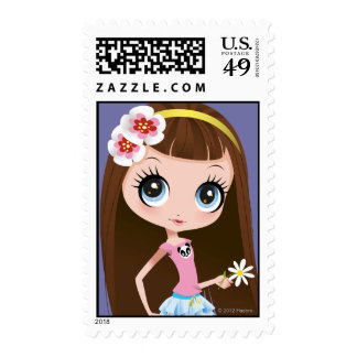 Blythe Holding Flower Postage Stamp