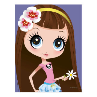 Blythe Holding Flower Postcard