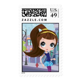 Blythe: Jet-Setting Pet Sitter Postage Stamps