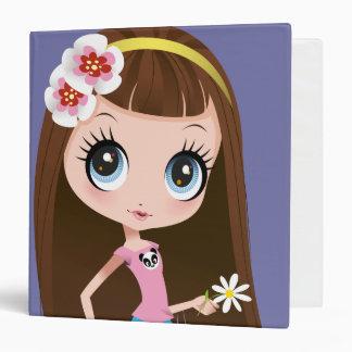 """Blythe que sostiene la flor carpeta 1 1/2"""""""