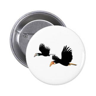 Blyth's hornbill - The Symbol of True Love Button