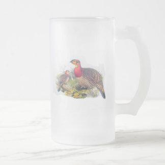 Blyth's Tragopan Frosted Glass Beer Mug