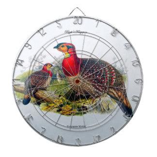 Blyth's Tragopan/Horny Pheasant J.Gould Dart Board