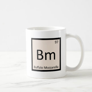 Bm - Buffalo Mozzarella Cheese Chemistry Symbol Coffee Mug