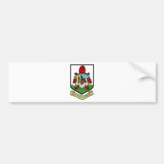 BM del escudo de armas de Bermudas Pegatina Para Auto