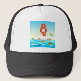 BM_Number_Set_08 Trucker Hat