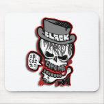 BMC grey Skull logo Mouse Pad