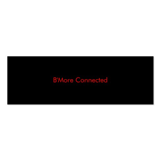 B'More Connected Biz Card 1 Business Card Template