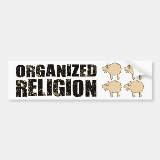 BMP Organized Religion (Sheep) Car Bumper Sticker