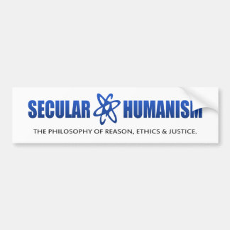 BMP Philosophy of Secular Humanism Bumper Sticker