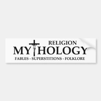 BMP Religion = Mythology Car Bumper Sticker