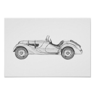 BMW 328 1936 POSTER