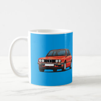 BMW 3 series, E30, shiny red Coffee Mug