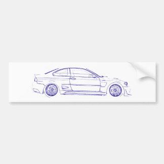 BMW E46 Classic Bumper Sticker