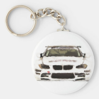 BMW M3 Racing Car Hand Painted Art Brush Template Keychain