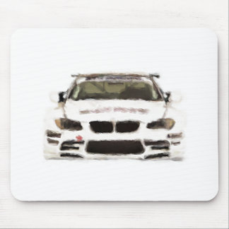 BMW M3 Racing Car Hand Painted Art Brush Template Mouse Pad