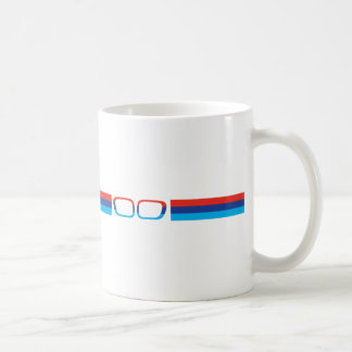 BMW M horizontal stripes and kidneys Classic White Coffee Mug