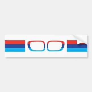 BMW M stripes and kidneys Bumper Sticker