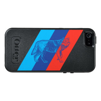 BMW M stripes with a wolf OtterBox iPhone 5/5s/SE Case