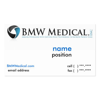 BMW Medical Card Design Double-Sided Standard Business Cards (Pack Of 100)