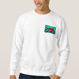 BMW Motorcycle for Basic Sweatshirt, White Pullover Sweatshirt