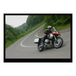 BMW R 1200 GS cornering Poster