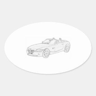 BMW Z4 OVAL STICKER