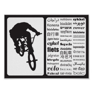 BMX Bicycle - Bicycle in Different Languages Poster