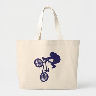 BMX BIKE RIDER LARGE TOTE BAG