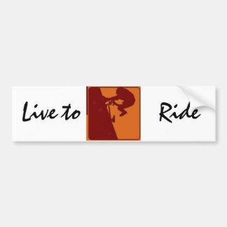 BMX Bike Rider Live to Ride Car Bumper Sticker