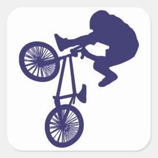 BMX Bike Rider Square Sticker
