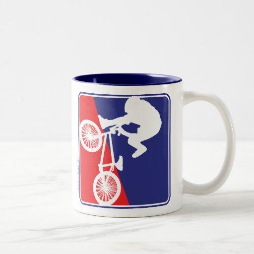 BMX Bike rider Two-Tone Coffee Mug