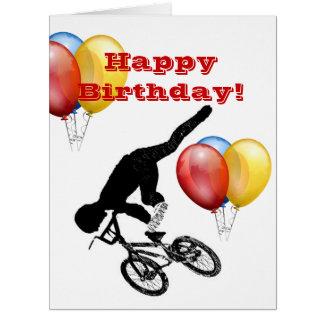 Bmx Bike Sports City Dirt Dad Boy Fun Love Destiny Card