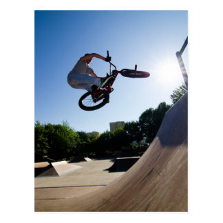 BMX Bike Stunt bar spin Postcard