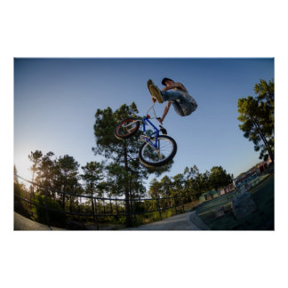 BMX Bike Stunt can-can Poster