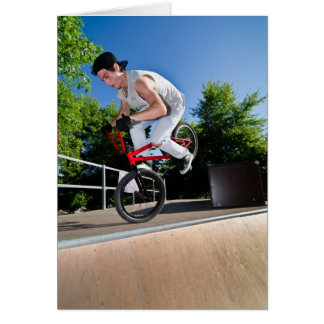 BMX Bike Stunt Card