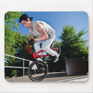 BMX Bike Stunt Mouse Pad