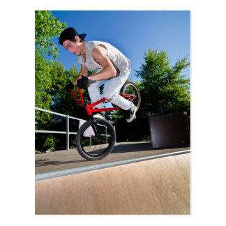BMX Bike Stunt Postcard