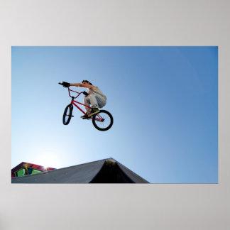BMX Bike Stunt Table Top Poster