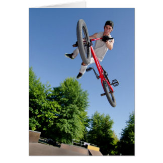 BMX Bike Stunt tail whip Card