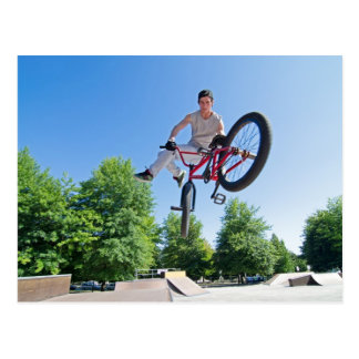 BMX Bike Stunt tail whip Postcard