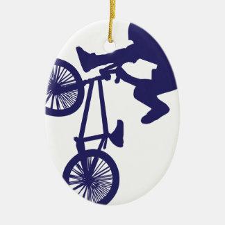 BMX Biker Ceramic Ornament