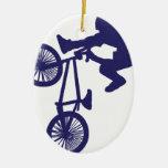BMX Biker Christmas Ornaments