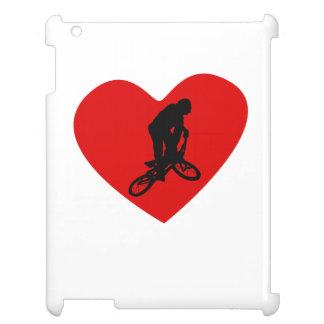 BMX Biker Heart iPad Cases