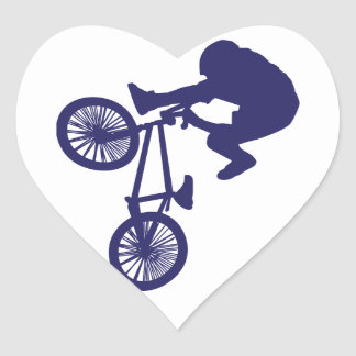 BMX Biker Heart Sticker