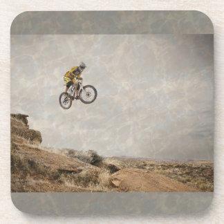 BMX Biker Jumping Photo Hard Plastic Coasters